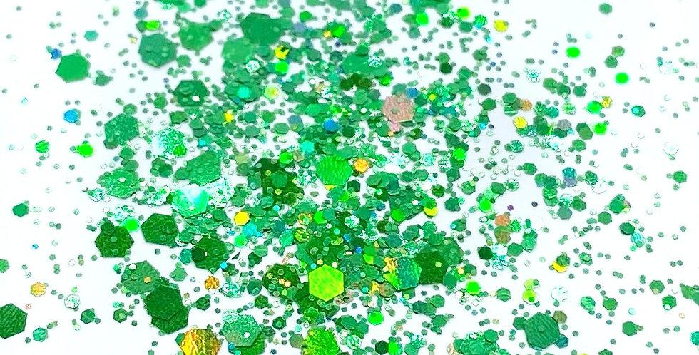 GLITTER: Chunky Mix - Green Holo