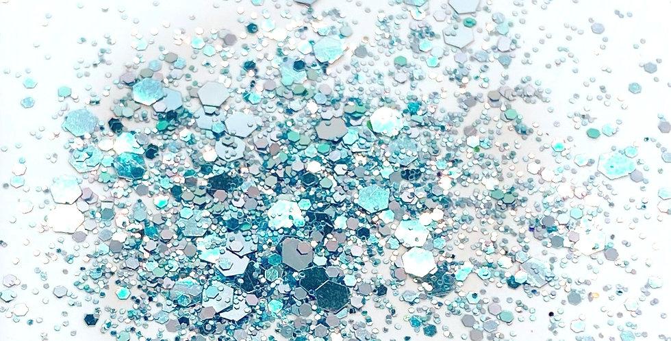 GLITTER: Chunky Mix - Frozen Blue