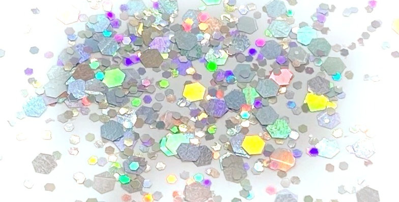 GLITTER: Chunky Mix - Silver Holo
