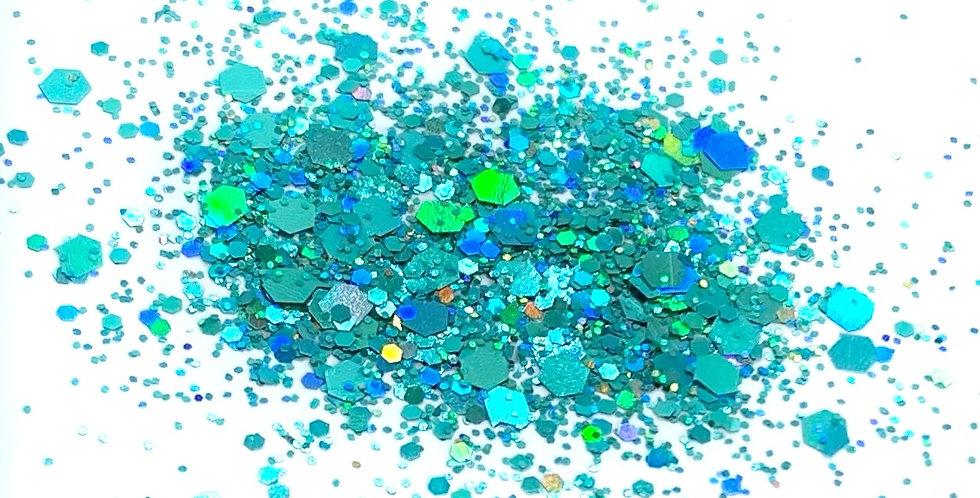 GLITTER: Chunky Mix - Turquoise Holo