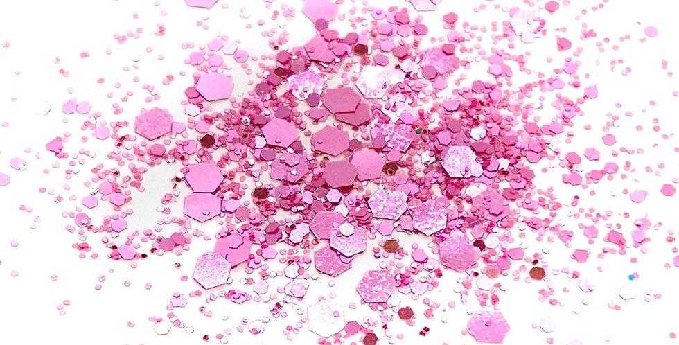 GLITTER: Chunky Mix - Light Pink