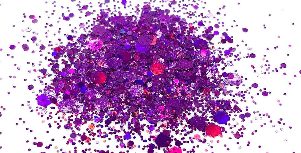 GLITTER: Chunky Mix - Purple Holo