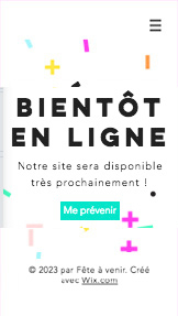 Landing Pages website templates – Fête à venir