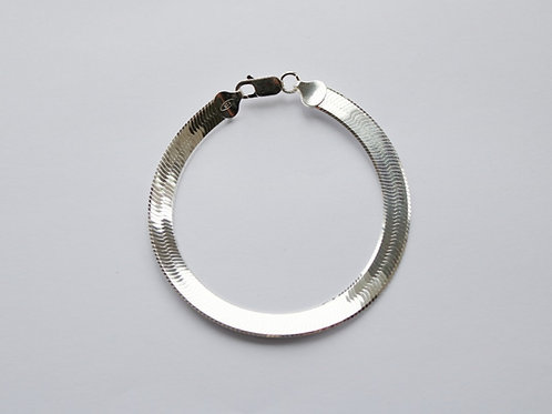 Wide Herringbone Shiny Bracelet