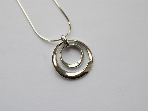 Double Polished Rings Pendant