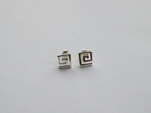 Greek Key Stud Earrings