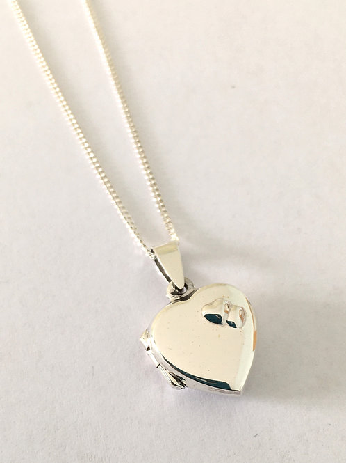 Heart Locket With Double Embossed Hearts