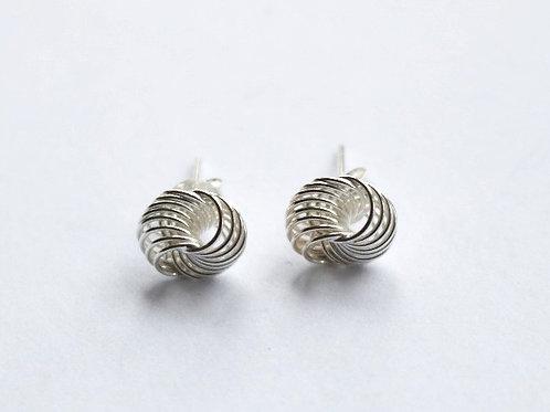 Multi Ring Knot Stud Earrings
