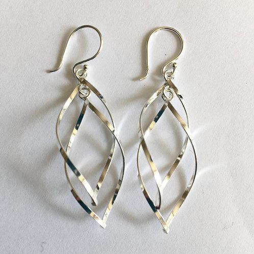 Double Helix Drop Earrings