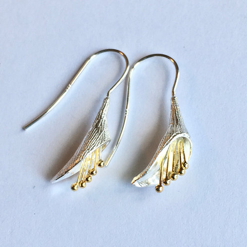 Cala Lily Hook Through Drop Earrings
