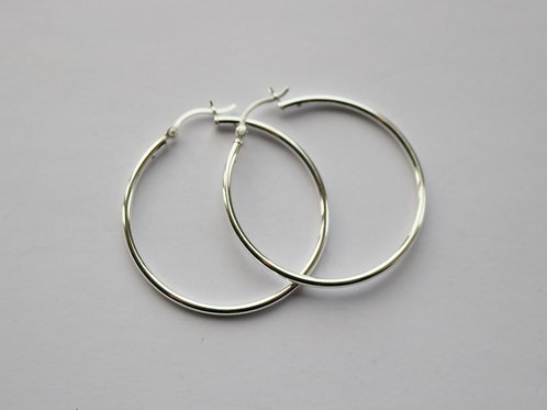 Simple 4cm Hinged Hoops
