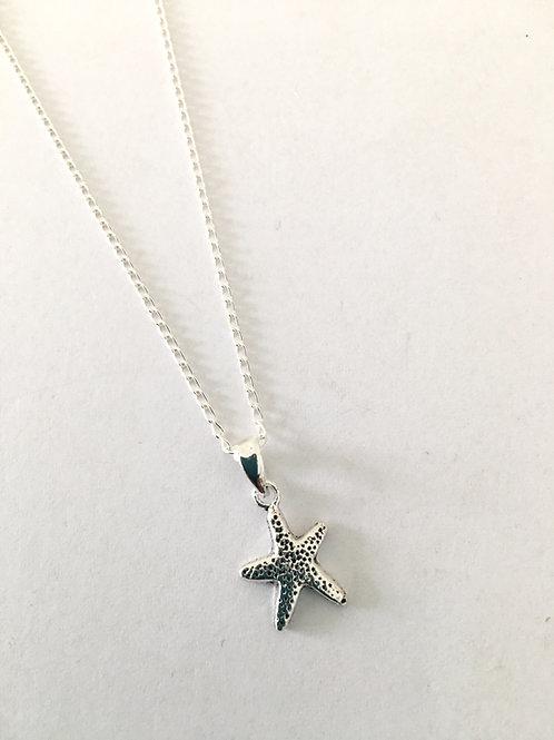 Small Textured Starfish Pendant