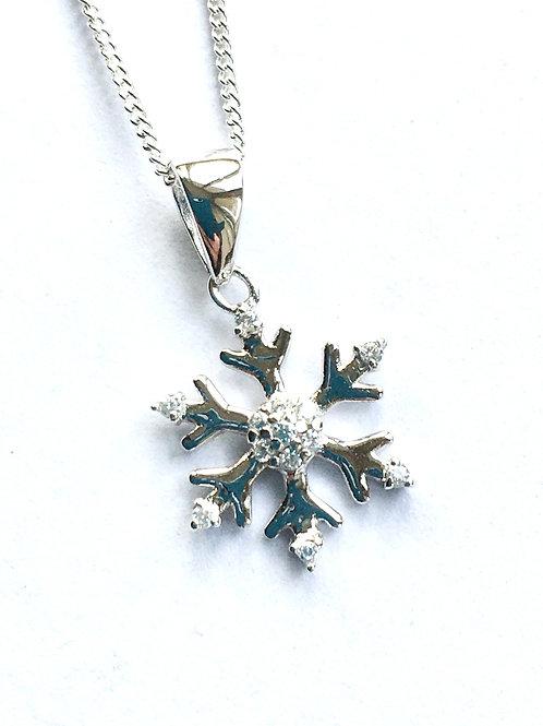 Small CZ Snowflake Pendant