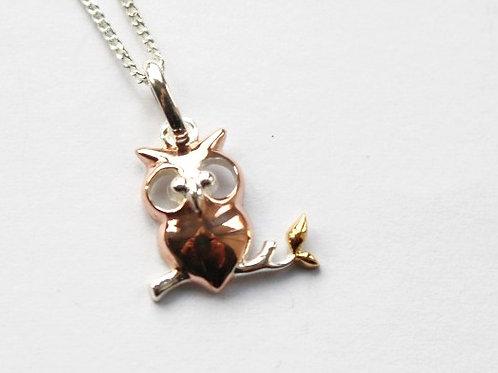 Vermeil Owl Pendant