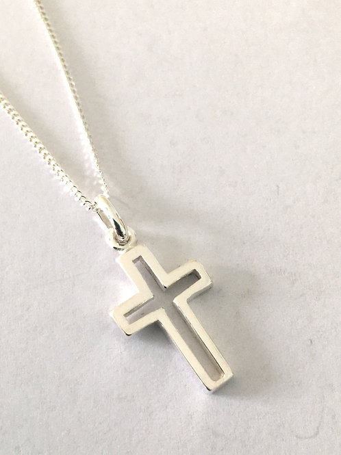 Cut Out Cross & Chain