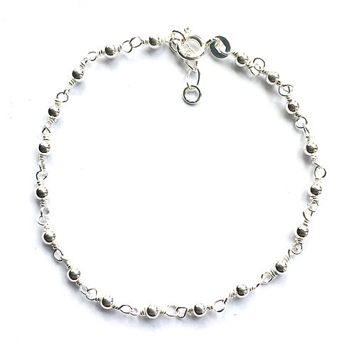 Silver Bead & Loop Bracelet