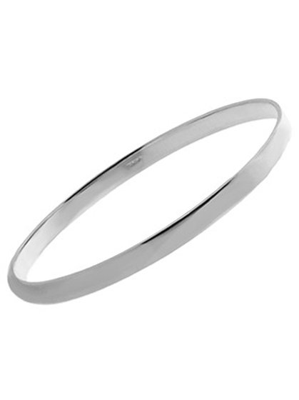 925 Sterling Silver Square Edge 5mm Stacker Bangle