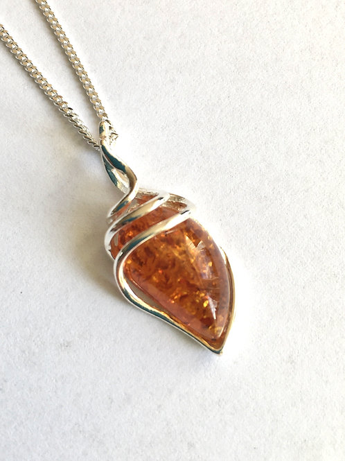 Cognac Amber Contemporary Style Pendant
