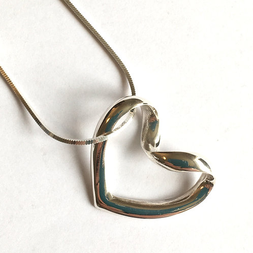 Large Open Heart Pendant