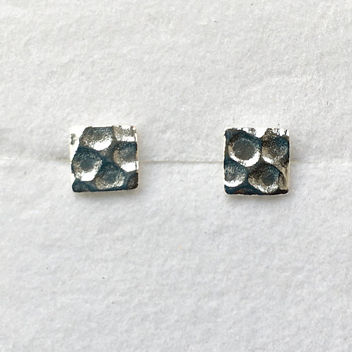 Small Square Hammered Studs