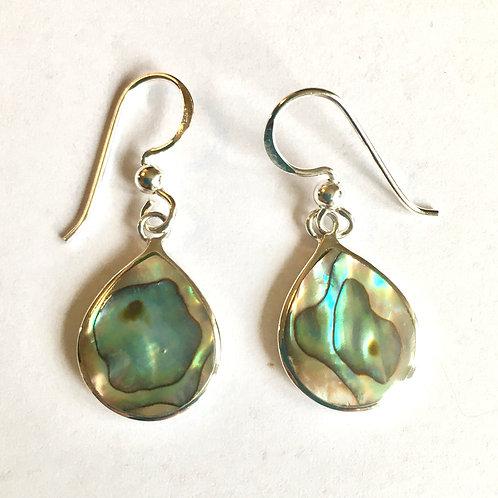 Abalone Teardrop Drop Earrings