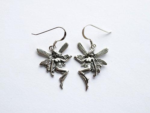 Art Nouveau Style Fairy Drop Earrings
