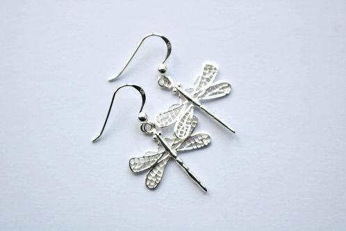 Filigree Dragonfly Drop Earrings