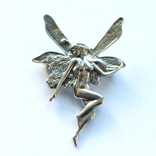 Art Nouveau Style Fairy Brooch