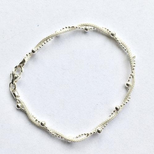 Foxtail & Bead Twist Bracelet