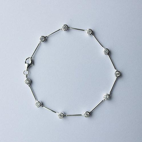 Clear Multi CZ Long Bar Bracelet