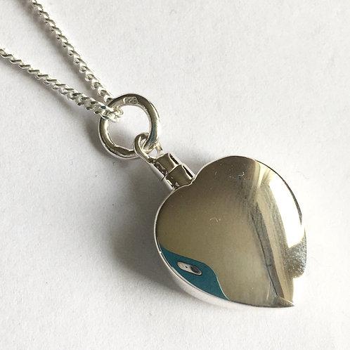 Memorial Heart Keepsake Pendant