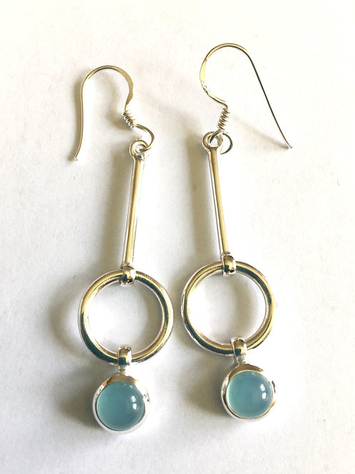 Blue Chalcedony Ring Stick Drops