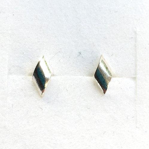 Small Diamond Shape Stud Earrings