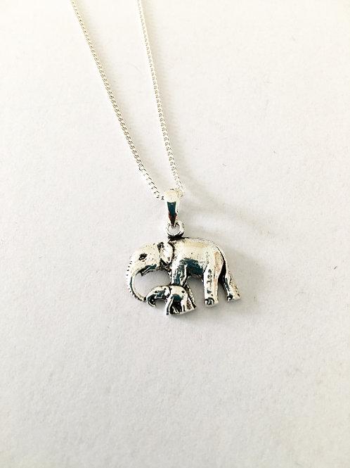 Elephant & Baby Pendant