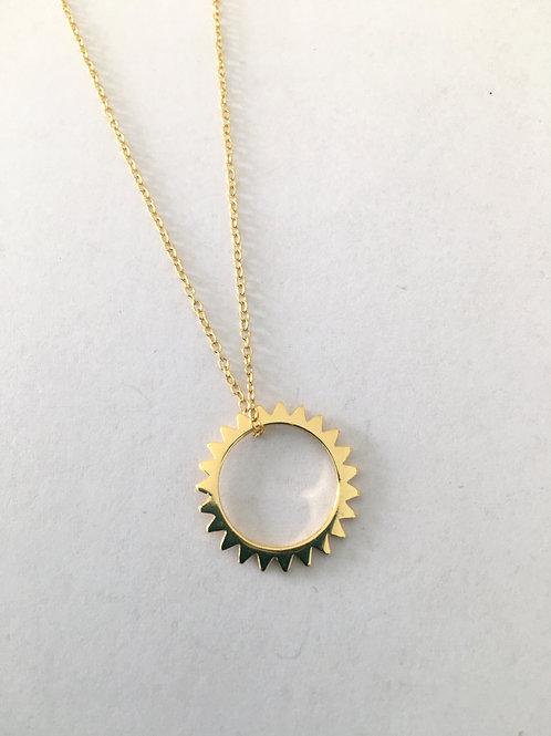 Vermeil Open Sun Pendant