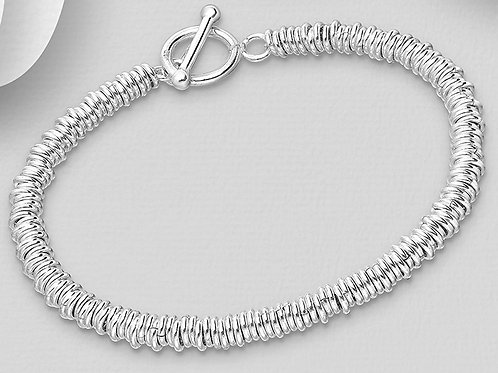 Mini Rings T Bar Bracelet
