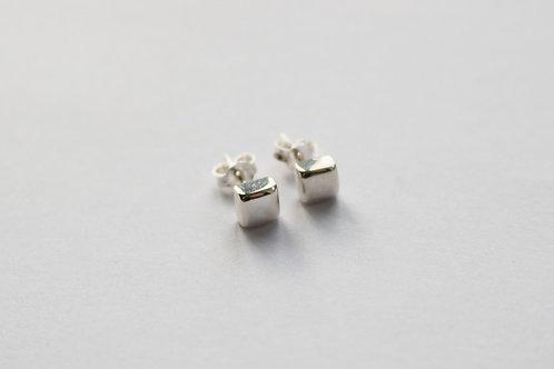 Chunky Square Stud Earrings