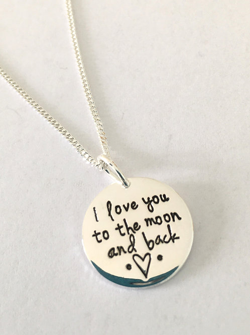 I Love You To The Moon Pendant