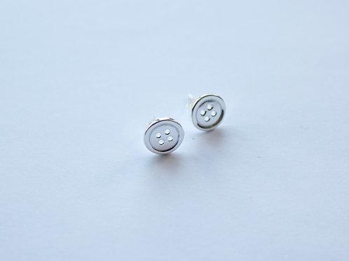 Plain Button Style Stud Earrings