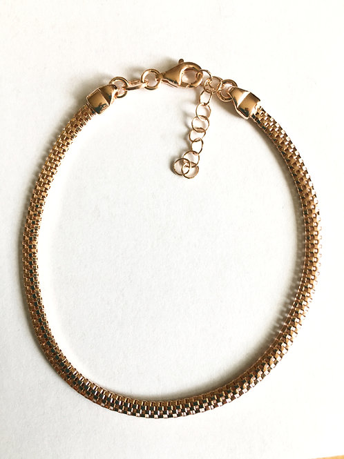 Vermeil Rose Gold on Silver Mesh Bracelet