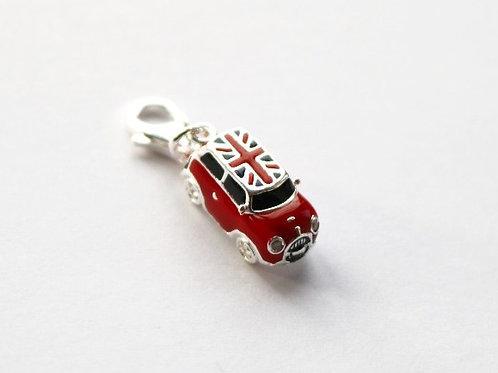 Union Jack Roof Enamel Mini Car Charm