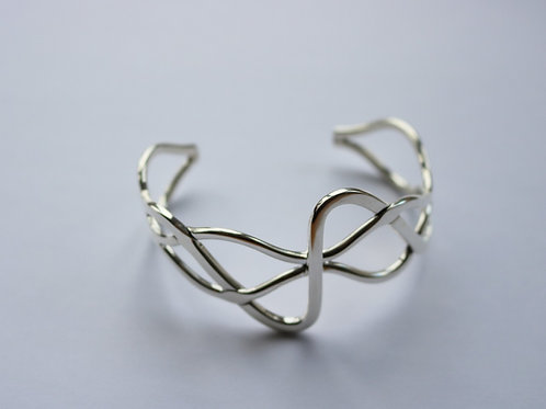 Abstract Weave Cuff Bangle