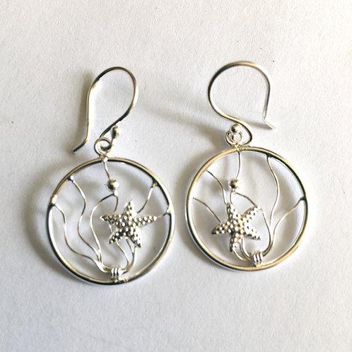 Starfish Under the Sea Drop Earrings