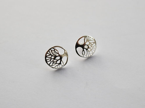Circular Tree Of Life Stud earrings
