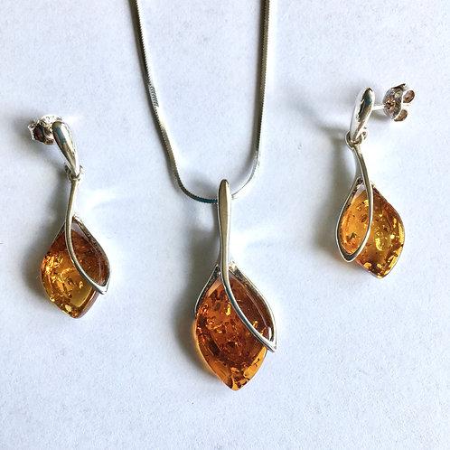 Amber Leaf Set