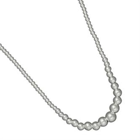 "18"" Graduated Polished Ball Bead Necklace"