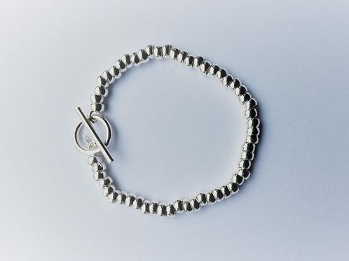Multi Heavy Rings T Bar Bracelet