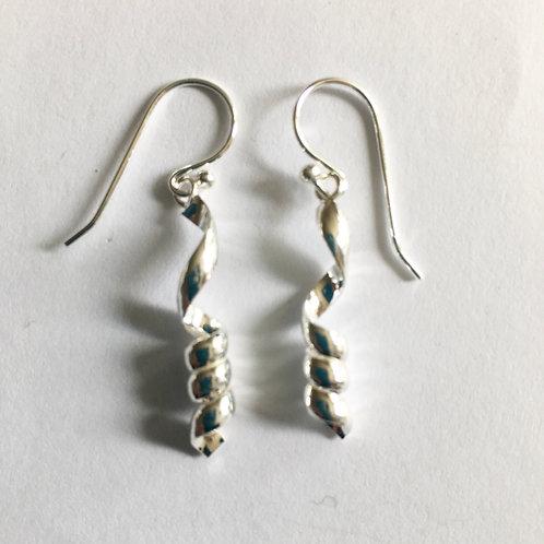 Abstract Corkscrew Drop Earrings