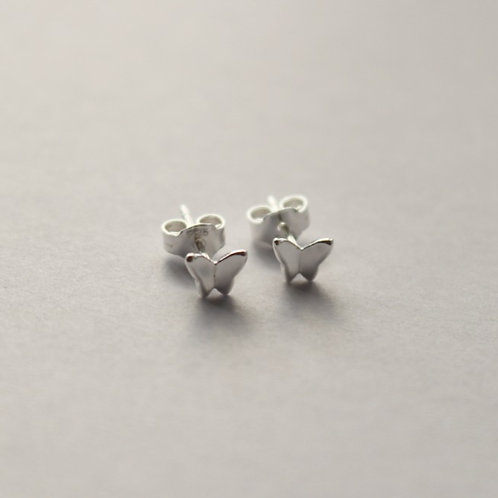Tiny Simple Butterfly Stud Earrings