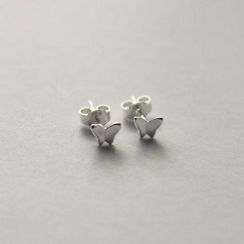 Tiny Simple Butterfly Stud Earrings